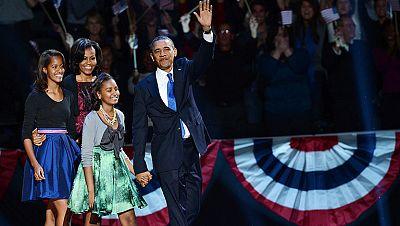 Barack Obama ha sido reelegido este miércoles presidente de los Estados Unidos al conseguir la victoria en el estado clave de Ohio, con el que según las proyecciones de voto ha superado los 270 votos necesarios en el colegio electoral.