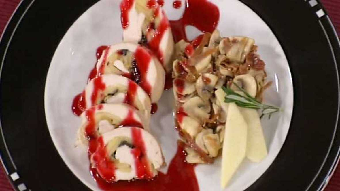 Cocina con Sergio - Pechugas de corral rellenas de manzana y aceitunas - Ver ahora