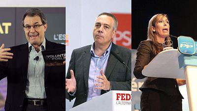 Primer fin de semana de campaña electoral en Cataluña