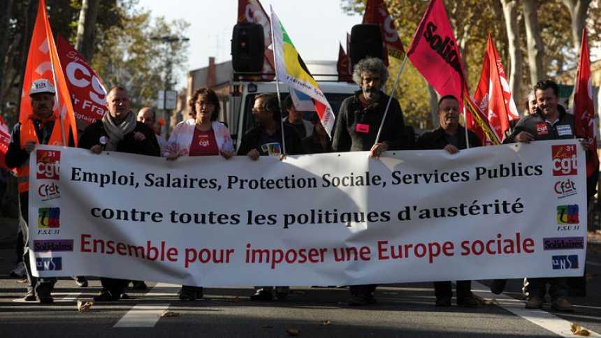 Huelgas generales por todo el continente europeo