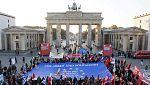 Las manifestaciones recorren las principales calles de Portugal, Roma, Berlín y París