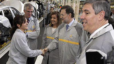 Rajoy visita la planta de Renault en Palencia