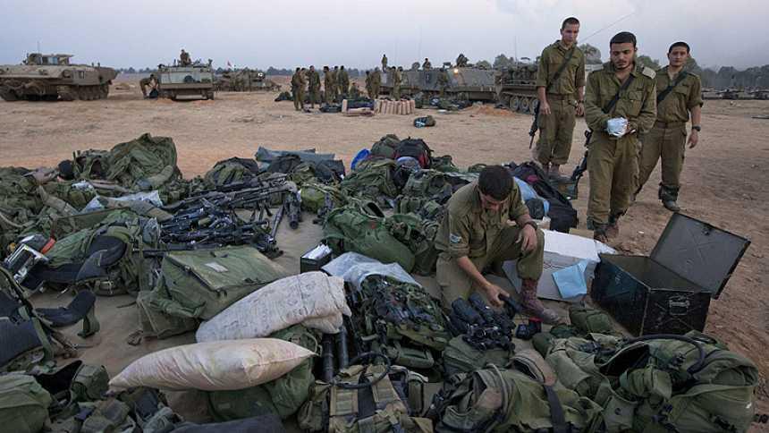 Repliegue de los 57.000 reservistas movilizados en Israel