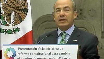 El presidente Calderón envía al Congreso una reforma constitucional para cambiar el nombre del país