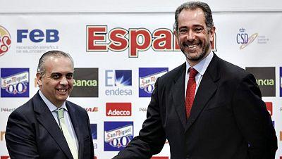 Juan Antonio Orenga durante la presentación como nuevo seleccionador español de baloncesto, en sustitución del italiano Sergio Scariolo.