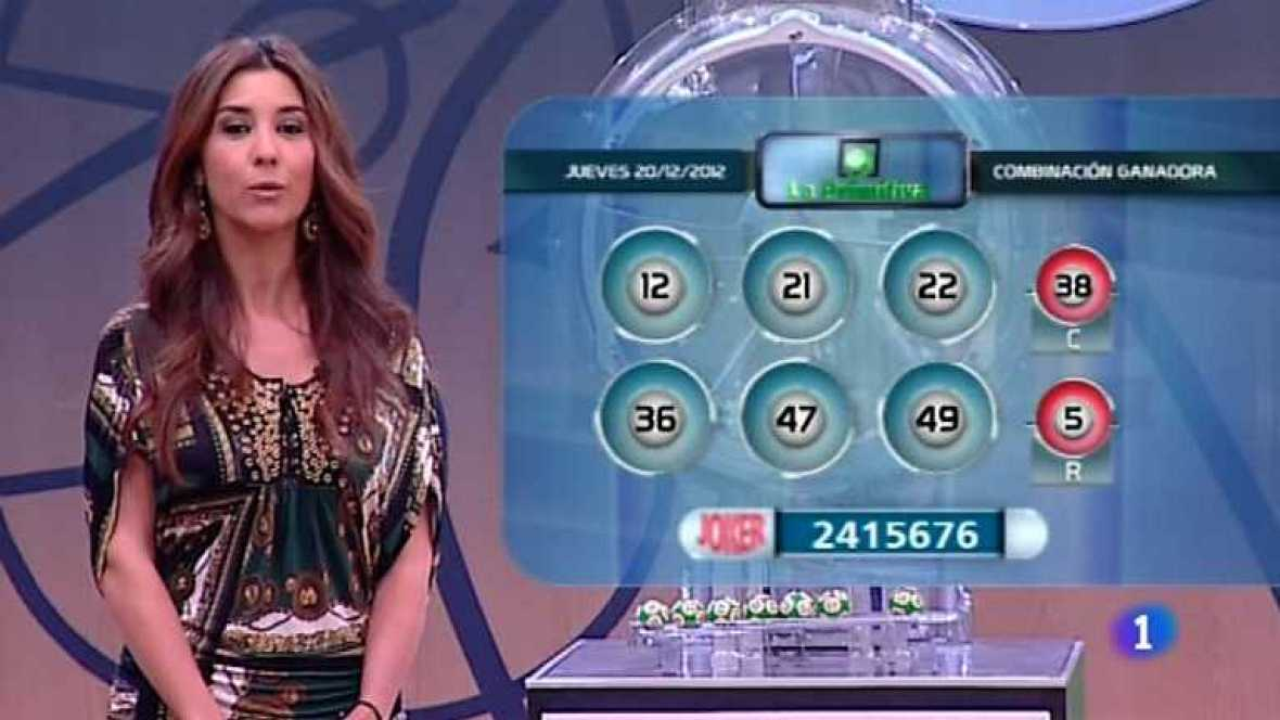 Lotería Nacional + Primitiva - 20/12/12 - ver ahora