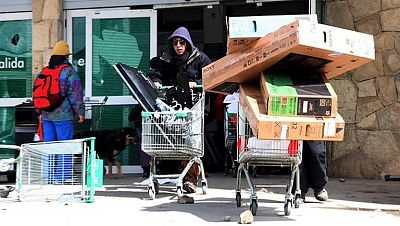 Asaltos a supermercados en Argentina