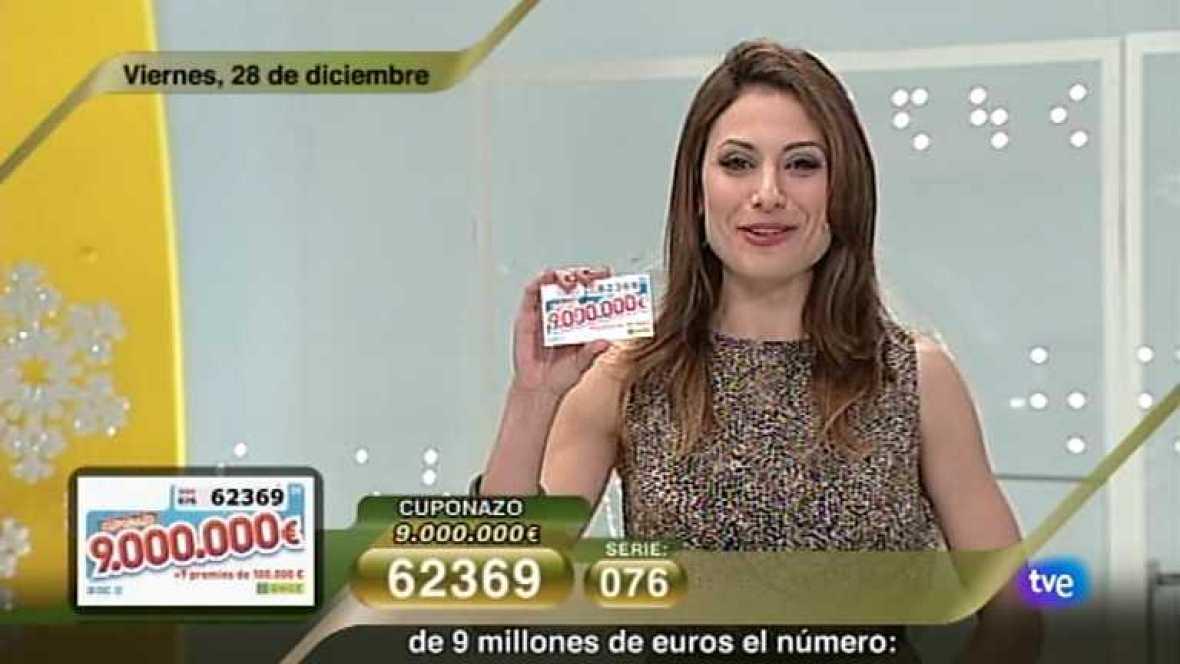 Sorteo ONCE - 28/12/12 - Ver ahora