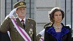 El rey reanuda su agenda oficial tras su operación de cadera con la Pascua Militar