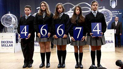 El 46.674, segundo premio de la Lotería del Niño