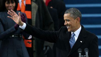 Obama congrega a cientos de miles de personas en su toma de posesión