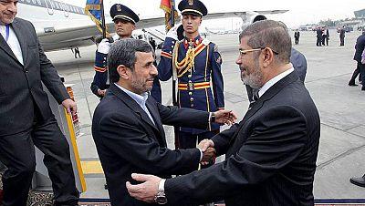 Ahmadineyad llega a Egipto en la primera visita de un presidente iraní desde 1979