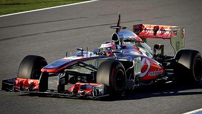 El británico Jenson Button (McLaren Mercedes) ha sido el más rápido en la primera jornada de entrenamientos de la pretemporada del Mundial de Fórmula 1, que  ha arrancado en el circuito de Jerez de la Frontera (Cádiz).