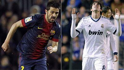Villa y Kaká, a la espera de su oportunidad