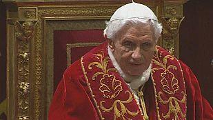 """Benedicto XVI promete """"respeto y obediencia"""" al futuro papa"""