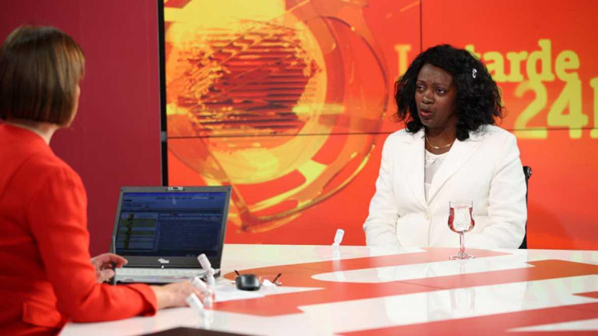 Berta Soler, portavoz de la organización disidente cubana Damas de Blanco ha hablado para el canal 24 horas de RTVE