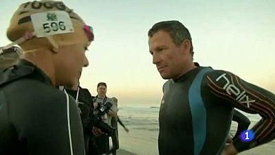 La FINA prohibe a Armstrong disputar una prueba de natación