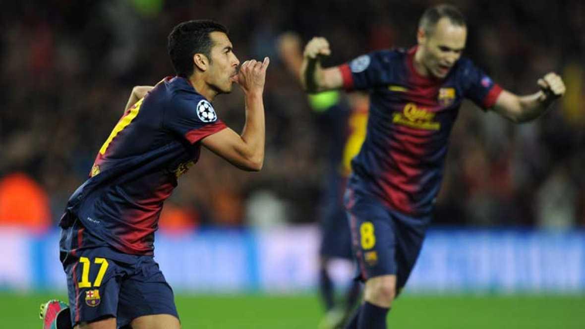 Pedro ha marcado el gol del empate ante el Paris Saint-Germain en el minuto 70 de juego, un gol que a la postre ha supuesto el pase del FC Barcelona a semifinales de la Champions League.