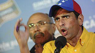 Capriles pide un recuento de votos tras la victoria de Maduro