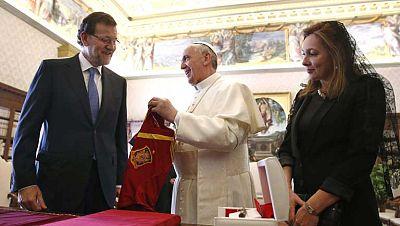 Mariano Rajoy recibido en visita oficial por el Papa Francisco I