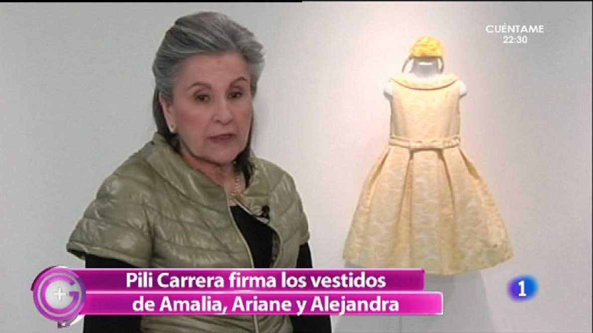 """Las hijas de los reyes de Holandavestidas """"made in Spain """""""
