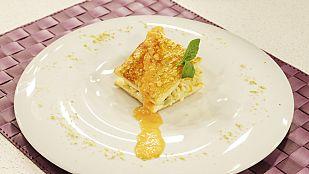 Saber cocinar - Arroz cremoso sobre zócalo de hojaldre