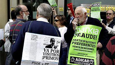 """Decenas de oficinas cerradas en Bankia por el """"toque a Bankia"""" del 15-M"""