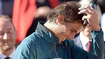 Rafa Nadal tiene que estar muy contento. Después de siete meses lesionado era muy difícil llegar al momento cumbre de la temporada -para él, Roland Garros- en las mejores condiciones. Y como se demostró ante Federer, lo ha conseguido. El único proble