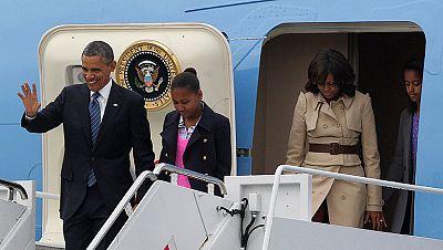 Barack Obama llega a Belfast a la cumbre del G-8