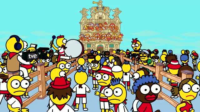 Dibujos San Fermin Para Colorear: San Fermín, Faltan 15 Días