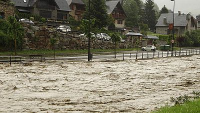 Inundaciones en el Vall d'Arany norte de Aragón