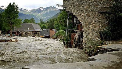Lleida y Huesca evalúan los daños causados por las inundaciones