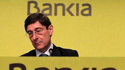 Protestas en la junta de Bankia
