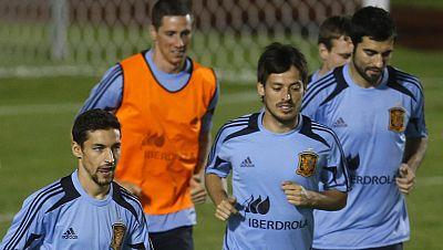 España perfila el equipo para jugar contra Italia