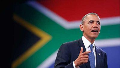 Jornada intensa de Barack Obama  en Sudáfrica