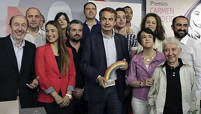 El PSOE premia a Zapatero por su defensa de los derechos civiles