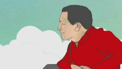 Chávez se convierte en protagonista de unos dibujos animados