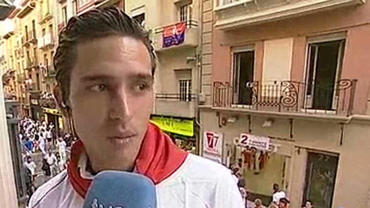 Entrevista con el torero Alberto Aguilar en San Fermín 2013