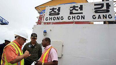 La ONU y Estados Unidos evalúan el armamento cubano del barco norcoreano interceptado en Panamá