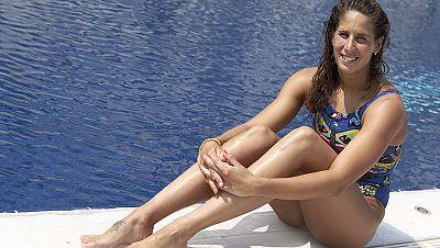 No pudo ser. Erika Villaécija no pudo luchar por las medallas en la final de 10 kilómetros en aguas abiertas, en las que las brasileñas Okimoto y Cunha se hicieron con el oro y la plata.