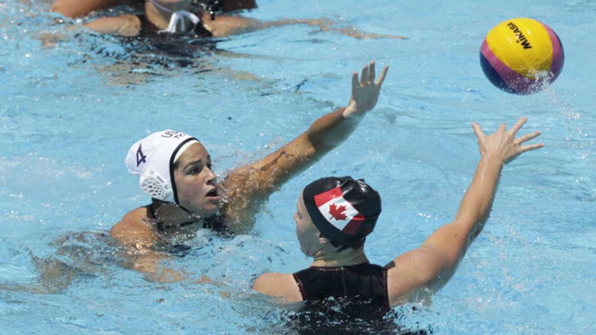 Waterpolo femenino. Fase de grupos: Estados Unidos - Canadá