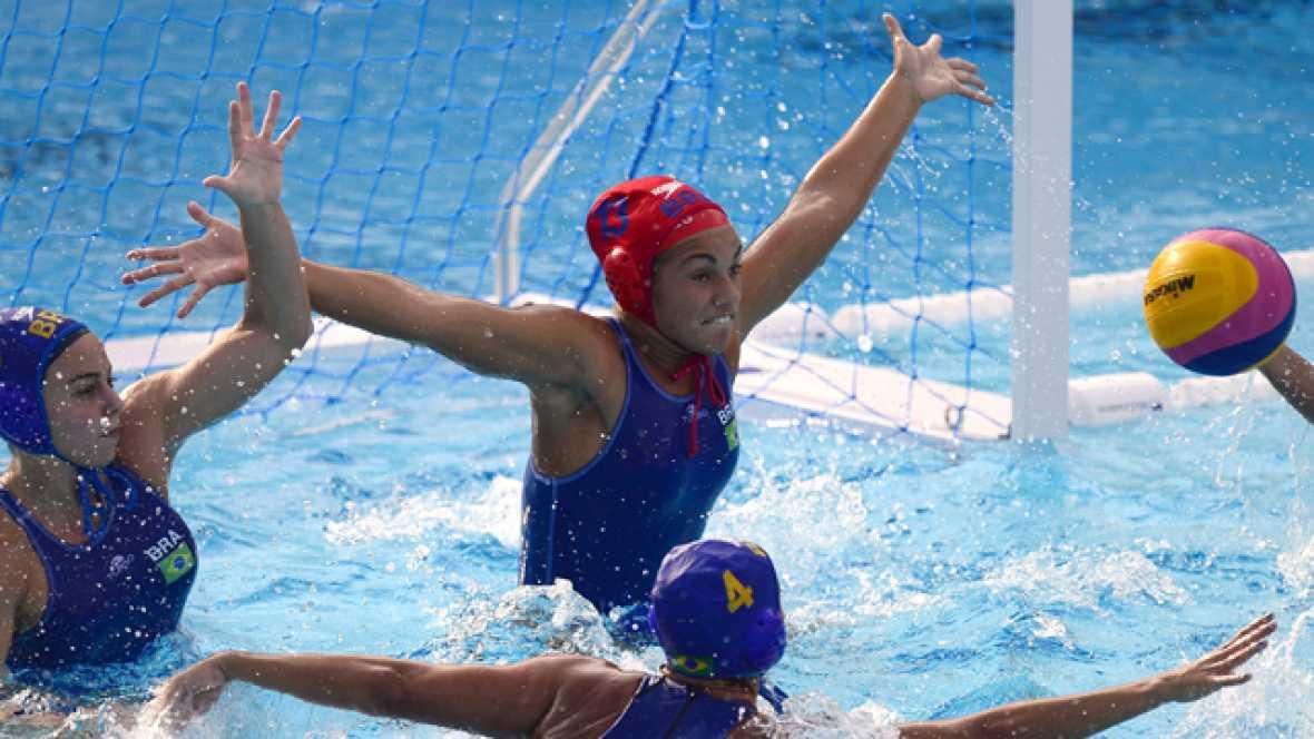 Waterpolo femenino. Fase de grupos: Kazajistán - Brasil