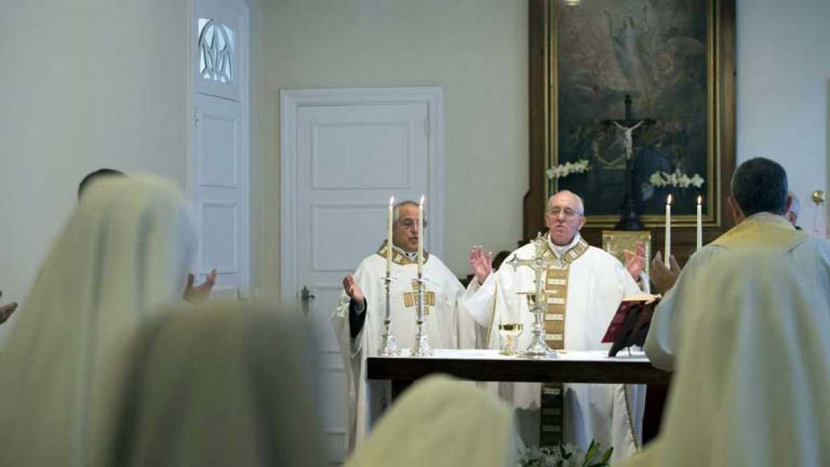 Primer acto multitudinario del papa en Brasil dentro de una apretada agenda