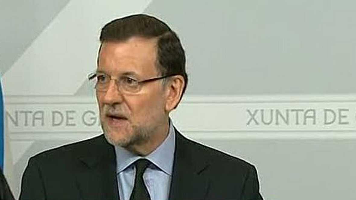 """Rajoy confía en que se esclarezcan """"a la mayor celeridad"""" las causas del accidente de tren"""