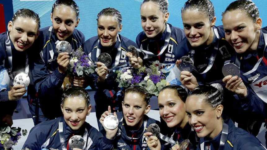 La sincronizada, cosecha de medallas para España