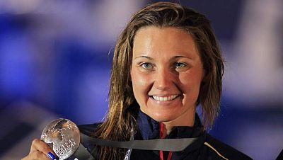 MelaniCosta ha logrado la medalla de plata de 400 metros libre en los Mundiales de Natación de Barcelona. Primera medalla para la natación española fuera de la sincronizada, que dejó otras siete en el palmarés