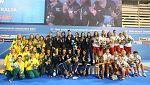 Las 'guerreras' de oro reciben su medalla
