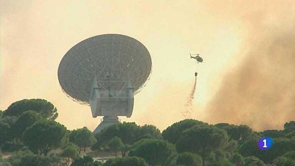 Un grave incendio se ha declarado este sábado en Cebreros en Ávila.