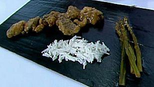 Saber cocinar - Cerdo ibérico a la naranja con espárragos asados