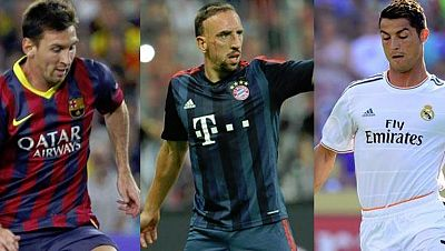 El próximo 29 de agosto, en una votación en directo, se conocerá quién es el Mejor Jugador UEFA, que saldrá del trio formado por Messi, Cristiano Ronaldo y Ribéry. Uno de los tres sucederá a Iniesta, ganador en 2012.